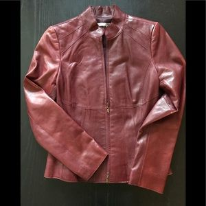 Real burgundy leather by Classiques
